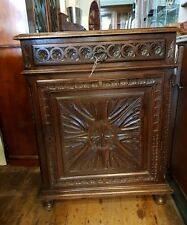 Oak Cabinet Carved French Antique