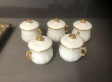5 anciens pots à crème en porcelaine signés D&C LEON AMBLARD DC D & C Limoges