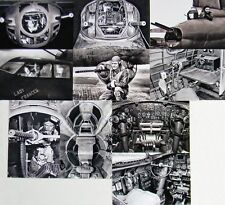 USAAF WW2 B-17 Bomber Crew Ten 4x6 Photo Set Highly Detailed WWII