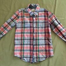 PEEK Boutique Girls Boys Button Down Shirt Plaid 2xl 12 Preppy Spring