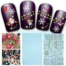 440Pcs DIY Decoration Tools 3D Snowflake Xmas Nail Art Stickers Decals Stamping