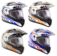NEW CHEAP STEALTH XC1 ADVENTURE TOURING DUAL SPORT MOTORCYCLE FULL FACE HELMET