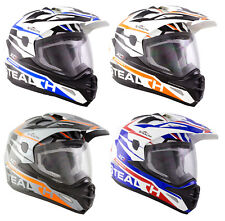 NEW STEALTH XC1 ADVENTURE TOURING DUAL SPORT MOTORCYCLE FULL FACE CRASH HELMET