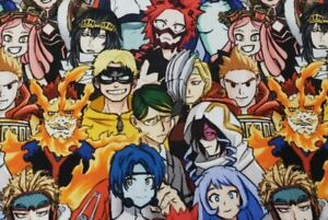 Custom 100% Cotton Woven Anime My Hero Academia by the 1/4 Yard SHIPS FAST!