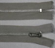 "17"" 19"" fossil grey VIV silver metal CLOSED END ended pin lock pinlock zips"