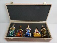 Komozja Family Mostowski Polish Glass Ornament Nativity Ornament Set HTF