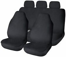 Black Waterproof Front & Rear Car Seat Covers for Land Rover Discovery All Years
