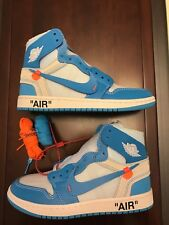 b9ce78a1f9f Men's NEW Nike OFF-WHITE x Air Jordan 1 Retro High OG 'UNC'