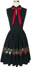 Trashy Diva Roses Embroidered Frida Dress Sz 8 Candice Gwinn