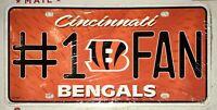 Cincinnati Bengals #1 Fan License Plate