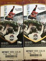 INDY 500 Tickets 2019 (2) Northwest Vista BUY NOW Spectacular