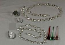 6x Kristall Glas Zapfen 50mm octagon für Lüster Kronleuchter Prismen Pendel
