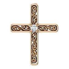 Diamant Solitaire Kreuz 14K ROSEGOLD