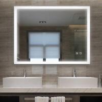 90x60cm LED Badspiegel Wandspiegel Badezimmerspiegel mit Beleuchtung 60x90 Touch