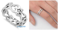 Sterling Silver 925 PRETTY OM SIGN SYMBOL SILVER BAND RING 8MM SIZES 5-10