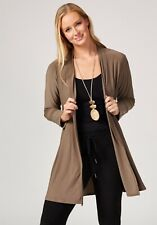 MarlaWynne Matte Jersey Cardigan with Side Button Detail Olive Grey Size S BNWT