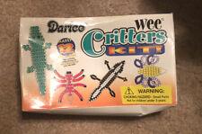 Darice Wee Critters Kit Beady Buddies Keychains Alligator Bee Skunk Beanies 1998