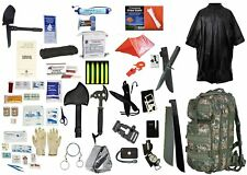 3 Day Survival Back Pack for 2 People Bug out Bag Emergency Food Camo Survival