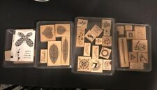 -NEW~Stampin up LOT OF 4 COMPLETE SETS LETTERS,SMILE,ETRUSEAN