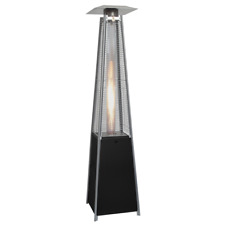 Lifestyle gas flame style patio heater - black LFS828