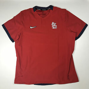 Men's Nike St. Louis Cardinals Short Sleeve Pullover Jacket Size Large New