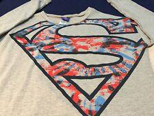 Women's DC Comics Superman Gray  Longsleeve Shirt Juniors XL (15/17)