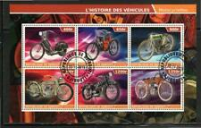 PL2132 2015 Souvenir Sheet of 6 Different History of Early Motorcycles
