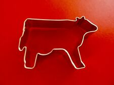 "Ann Clark 3 1/2 ""  Cow Cookie Cutter  Tin Plated Steel USA"