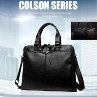 Men's Genuine Leather Bag Messenger Laptop Shoulder Business Briefcase Handbag