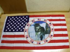 Fahnen Flagge USA Wolf Neu - 90 x 150 cm