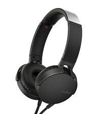 Sony MDR-XB550AP Extra Bass On-Ear Headphone MDRXB550AP Black #94 *NEW*