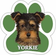 Yorkie Yorkshire Terrier Pup Dog Paw Shaped Vinyl Car UV Coated Magnet 13125-107