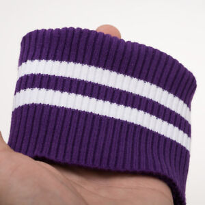 2*1 Cotton Striped Knit Baseball uniform Sweater Cuff Rib Trim Clothing Fabric