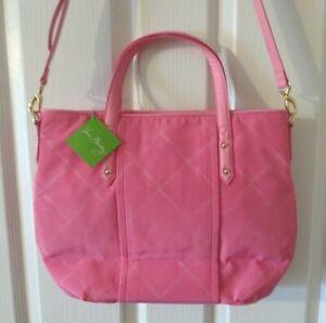 Vera Bradley Blossom Pink Preppy Poly Satchel Tote Bag