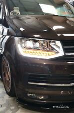 Vw T6 Transporter CHROME V2 LED DRL Headlights, T6 Headlamps, T6 Lights, T6 LED
