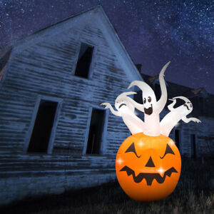 Halloween Inflatable Ghost Decoration with LED Lights - 1.5m - Mains Powered