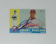 RONNY PAULINO SIGNED AUTO'D 2009 TOPPS HERITAGE CARD #238 PHILADELPHIA PHILLIES