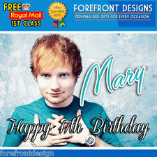 Personalised Ed Sheeran Birthday Card / Greeting card