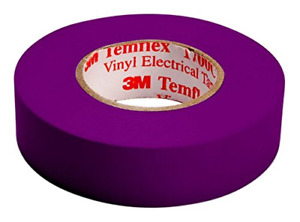 3M Temflex Vinyl Electrical Insulation Tape 15 mm x 10 m Self Adhesive Purple