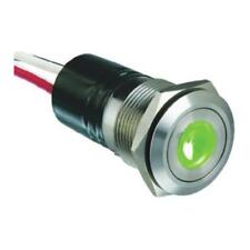 1 x Bulgin Push Button Switch MPI001/FL/GN, Panel Mount, Illuminated Green LED