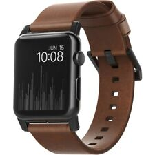 Nomad Modern Strap for Apple Watch 44mm/42mm - Rustic Brown Horween