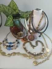 All signed CHICOS Costume Fashion Jewelry lot Necklace Enamel Rhinestone ect