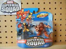 Marvel Super Hero Squad SEALED Wave 20: WOLVERINE & JUGGERNAUT Open Hand