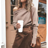 New Womens Off Shoulder Baggy Ladies Tops Loose Blouse Oversized New Sweater