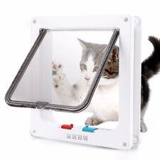 4 Way Medium Small Large Pet Door Cat Dog Puppy Supplies Lockable Creative White