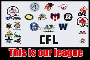 CFL Team Logo's USA & Canada This Is Our League 8 X 12 Photo Picture