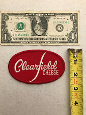 vintage Clearfield Cheese Embroidered Advertising Patch Red & White