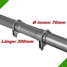 Ø 70x200mm Uni Tuyau de Réparation Tuyau avec Aufweitung Échappement Clamp 9 #