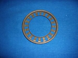 """ANTIQUE COPPER GONE WITH THE WIND 4"""" BALL SHADE RING KEROSENE OIL LAMP PART"""