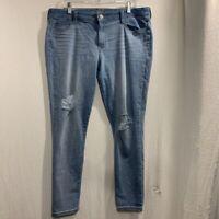 Arizona Jeans Womens Jeggings Blue Stretch Distressed Pockets Denim Juniors 19